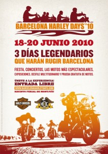 Cartel Barcelona Harley Days