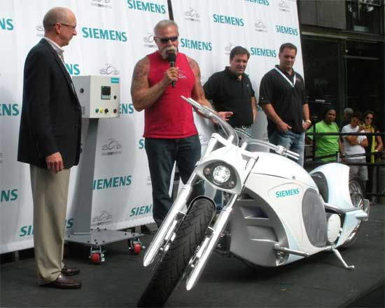 La moto eléctrica de Orange County Choppers y Siemens