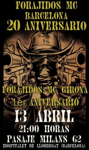 20 Aniversario Forajidos MC Barcelona, por Gemma Encinas - Cartel
