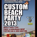Cartel de la Custom Beach Party 2013