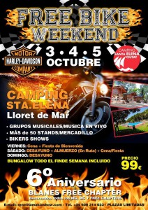 Estuvimos en el Free Bike Weekend, 6 Aniversario Free Chapter Blanes